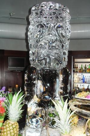 Tiki Ice Statue